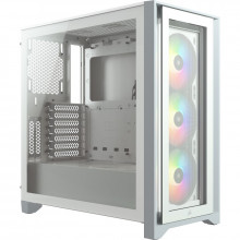 Corsair iCUE 4000X RGB Tempered Glass Mid-Tower ATX Case — Blanc