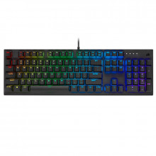 Corsair K60 RGB PRO Mechanical Gaming Keyboard — CHERRY VIOLA — Black (FR)