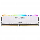 Ballistix White RGB DDR4 8 Go (1 x 8 Go) 3000 MHz CL15
