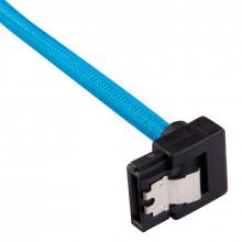Corsair Câbles SATA Gainés Droits/Coudés 30 cm (coloris bleu)