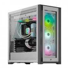 Corsair iCUE 5000X RGB Tempered Glass (Blanc)