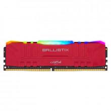 Ballistix Red RGB DDR4 8 Go (1 x 8 Go) 3200 MHz CL16 Tray