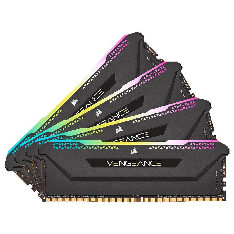 Corsair Vengeance RGB PRO SL Series 128 Go (4 x 32 Go) DDR4 3200 MHz CL16 - Noir