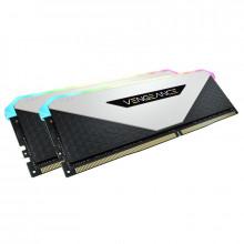 Corsair Vengeance RGB RT 64 Go (2 x 32 Go) DDR4 3200 MHz CL16 - Blanc