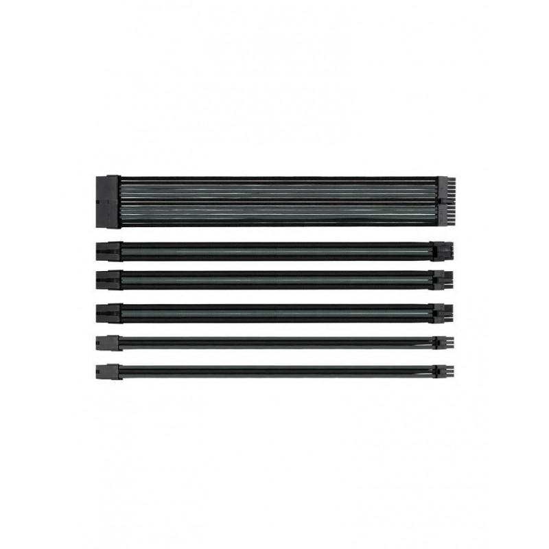 Câbles d'extension gainés Thermaltake Noir et Gris