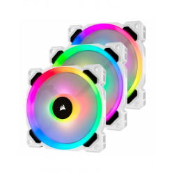 CORSAIR LL120 Pro LED RGB 120mm Blanc x3pcs