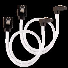 Câble CORSAIR Premium gainé SATA 6Gbps Blanc 30cm 90°