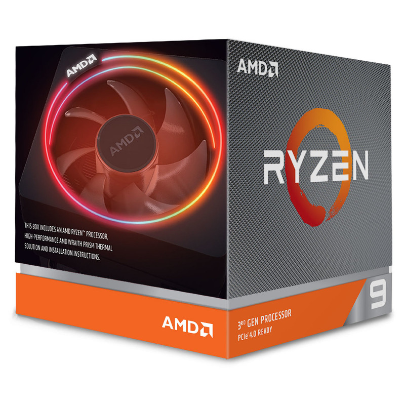 AMD Ryzen 9 3900X Wraith Prism LED RGB (3.8 GHz / 4.6 GHz) 100-100000023BOX