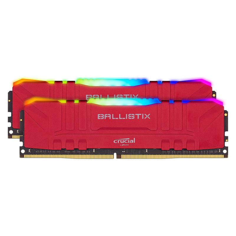 Ballistix Red RGB DDR4 16 Go (2 x 8 Go) 3200 MHz CL16