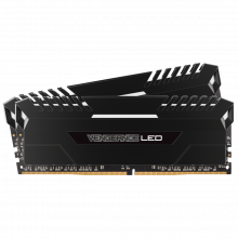 Kit de mémoire VENGEANCE® LED 32 Go (2 x 16 Go) DDR4 DRAM 3 200 MHz C16 - LED blanc