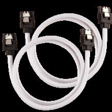 Corsair Câble gainé Premium SATA 6Gbps 60 cm — blanc