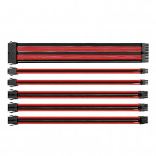 Thermaltake TtMod Sleeve Cable (Extension Câble Tressé) - Rouge et Noir