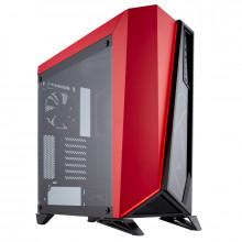 Corsair Boîtier gaming ATX moyen-tour Carbide Series® SPEC-OMEGA en verre trempé - Noir/rouge